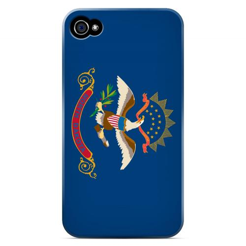 North Dakota - Geeks Designer Line Flag Series Matte Back Case for Apple iPhone 4/4S