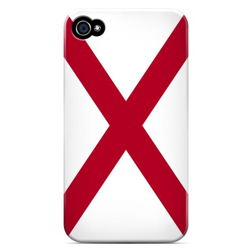 Alabama - Geeks Designer Line Flag Series Matte Back Case for Apple iPhone 4/4S