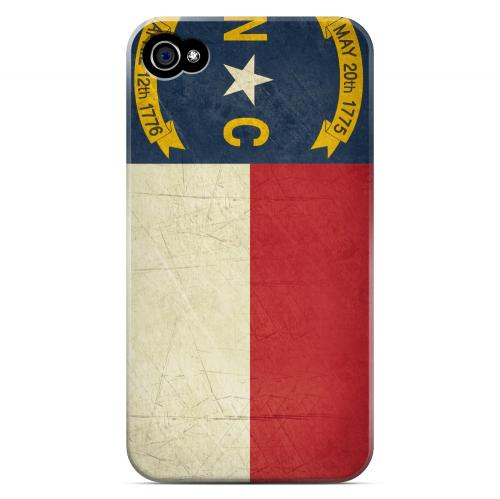 Grunge North Carolina - Geeks Designer Line Flag Series Matte Case for Apple iPhone 4/4S