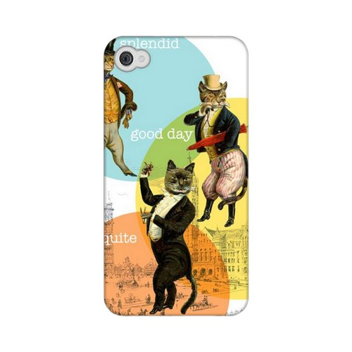 Dandy Kitties GDL Americana Nostalgia Series Matte Case for iPhone 4/4S Geeks Designer Line