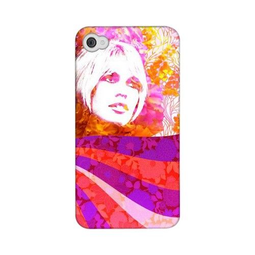 Glossy Flowerchild GDL Ultra Matte Hard Case for Apple iPhone 4/4S Geeks Designer Line