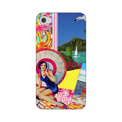 Paradise Americana Nostalgia Series GDL Ultra Matte Hard Case for Apple iPhone 4/4S Geeks Designer Line