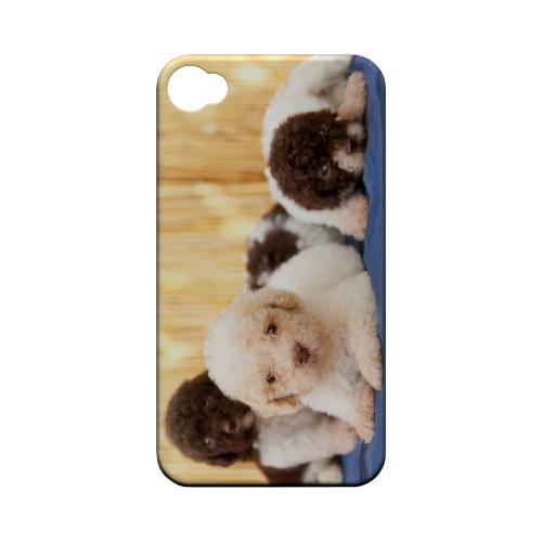 Three Buddies Geeks Designer Line Puppy Series Matte Hard Case for Apple iPhone 4/4S