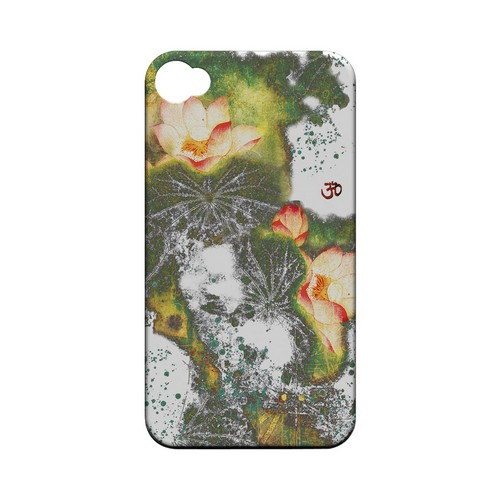 Lotus Flowers - Geeks Designer Line (GDL) Apocalyptic Series Matte Back Cover for Apple iPhone 4/4S