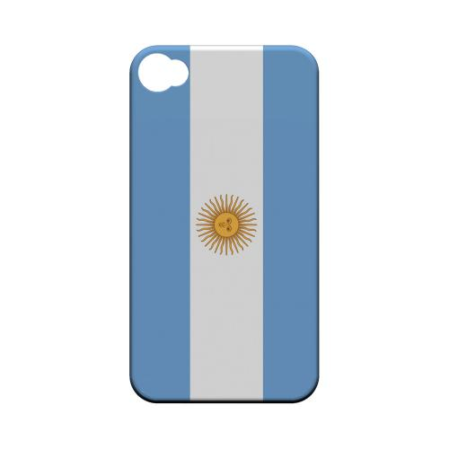 Argentina Geeks Designer Line Flag Series Matte Hard Case for Apple iPhone 4/4S
