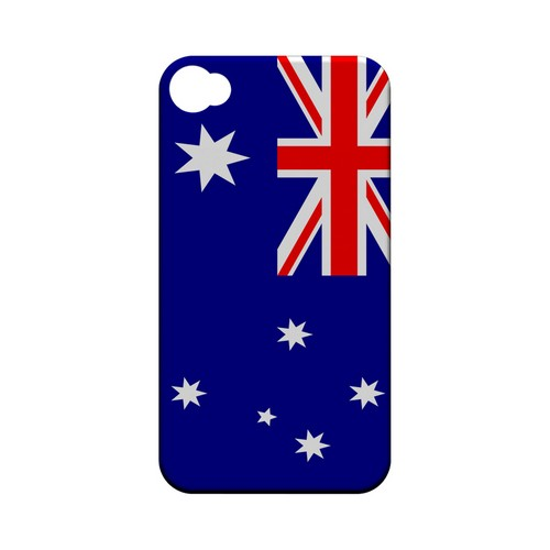 Australia Geeks Designer Line Flag Series Matte Hard Case for Apple iPhone 4/4S