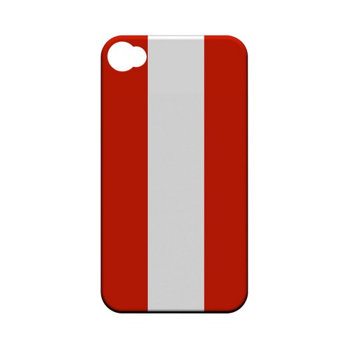 Austria Geeks Designer Line Flag Series Matte Hard Case for Apple iPhone 4/4S