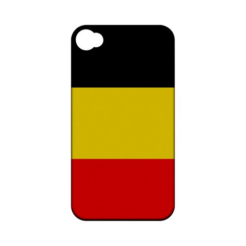 Belgium Geeks Designer Line Flag Series Matte Hard Case for Apple iPhone 4/4S