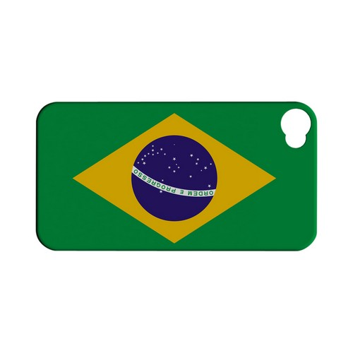Brazil Geeks Designer Line Flag Series Matte Hard Case for Apple iPhone 4/4S