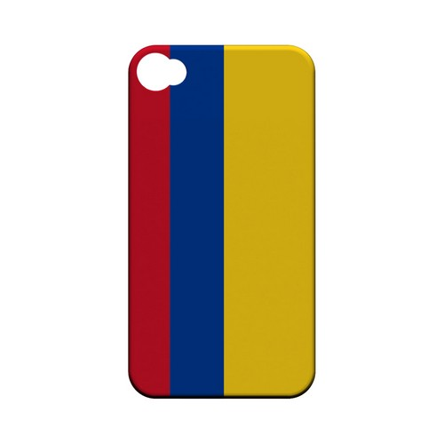 Colombia Geeks Designer Line Flag Series Matte Hard Case for Apple iPhone 4/4S