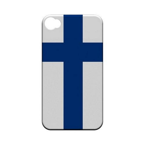 Finland Geeks Designer Line Flag Series Matte Hard Case for Apple iPhone 4/4S