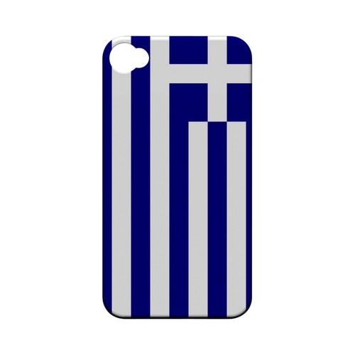 Greece Geeks Designer Line Flag Series Matte Hard Case for Apple iPhone 4/4S