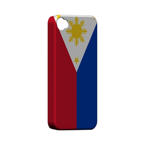 Philippines Geeks Designer Line Flag Series Matte Hard Case for Apple iPhone 4/4S