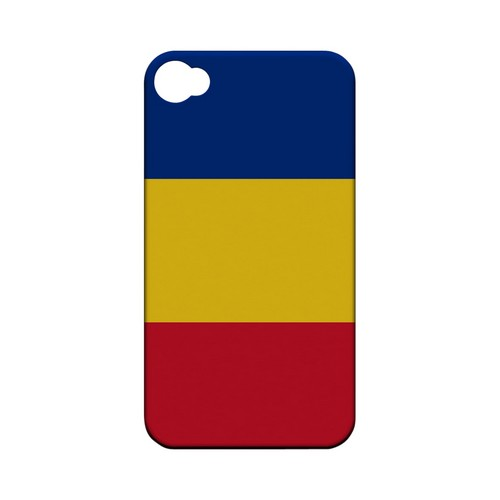 Romania Geeks Designer Line Flag Series Matte Hard Case for Apple iPhone 4/4S