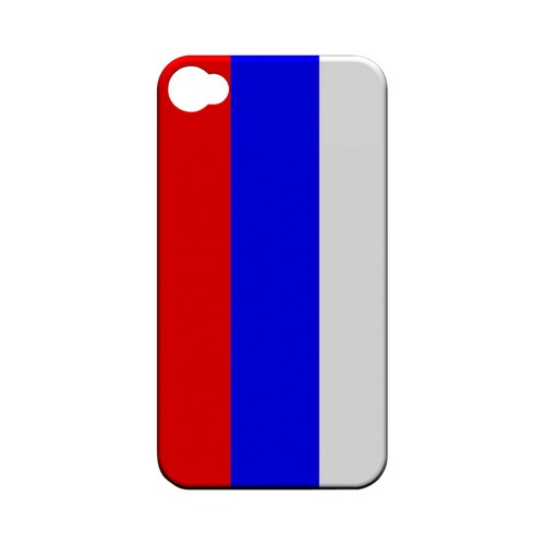 Russia Geeks Designer Line Flag Series Matte Hard Case for Apple iPhone 4/4S