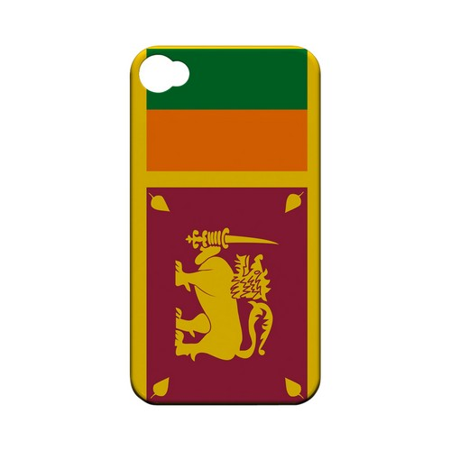 Sri Lanka Geeks Designer Line Flag Series Matte Hard Case for Apple iPhone 4/4S