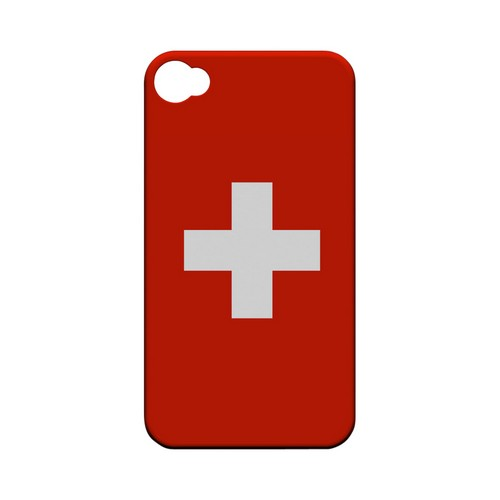 Switzerland Geeks Designer Line Flag Series Matte Hard Case for Apple iPhone 4/4S