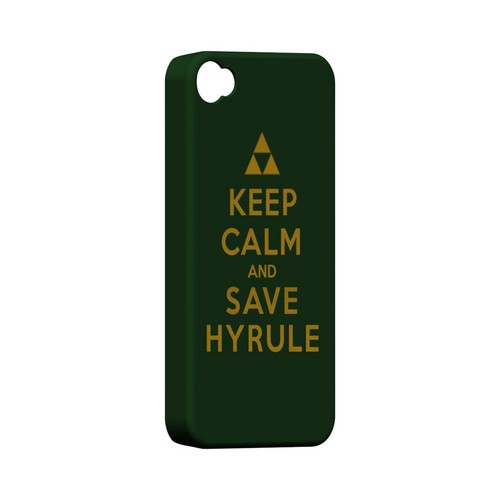 Green Save Hyrule Geeks Designer Line Keep Calm Series Matte Hard Case for Apple iPhone 4/4S