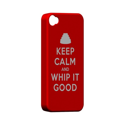 Red Whip It Good Geeks Designer Line Keep Calm Series Matte Hard Case for Apple iPhone 4/4S