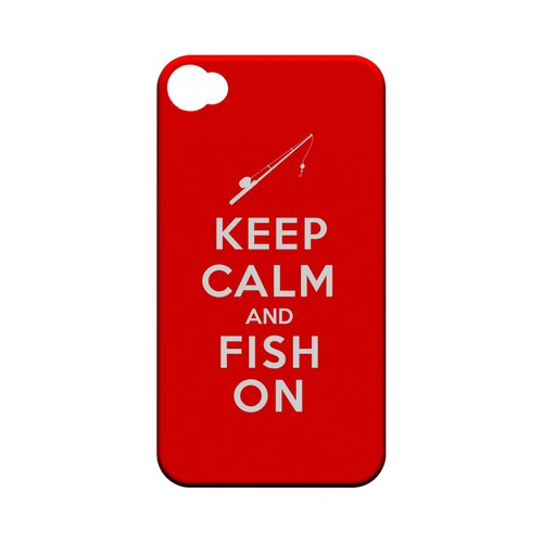 Red Fish On Geeks Designer Line Keep Calm Series Matte Hard Case for Apple iPhone 4/4S