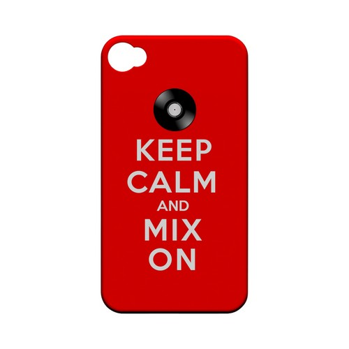 Red Mix On Geeks Designer Line Keep Calm Series Matte Hard Case for Apple iPhone 4/4S