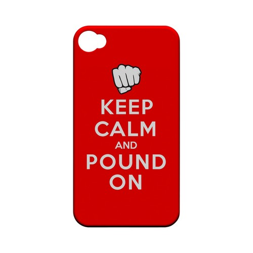 Red Pound On Geeks Designer Line Keep Calm Series Matte Hard Case for Apple iPhone 4/4S