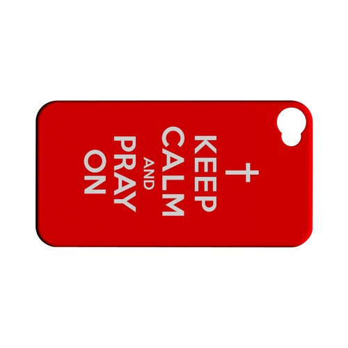 Red Pray On Geeks Designer Line Keep Calm Series Matte Hard Case for Apple iPhone 4/4S