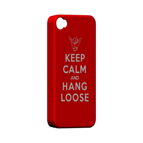 Red Hang Loose Geeks Designer Line Keep Calm Series Matte Hard Case for Apple iPhone 4/4S