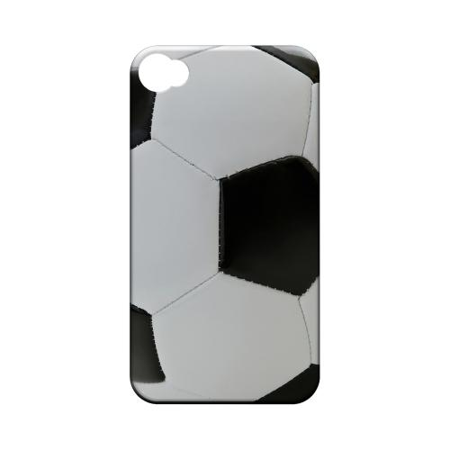 Soccer Ball Geeks Designer Line Sports Series Matte Hard Case for Apple iPhone 4/4S