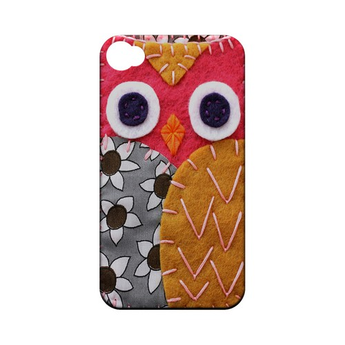Hot Pink/ Dark Blue Owl Geek Nation Program Exclusive Jodie Rackley Series Hard Case for Apple iPhone 4/4S