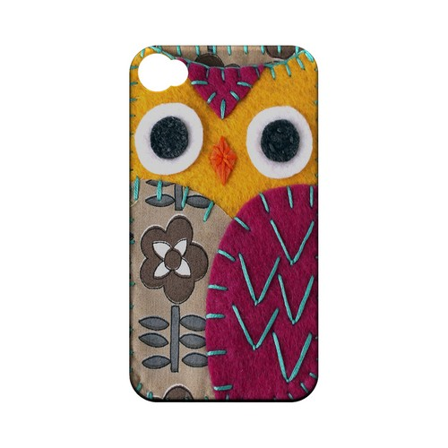 Yellow/ Purple Owl Geek Nation Program Exclusive Jodie Rackley Series Hard Case for Apple iPhone 4/4S