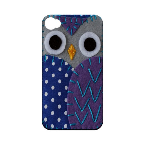 Gray/ Purple Owl Geek Nation Program Exclusive Jodie Rackley Series Hard Case for Apple iPhone 4/4S