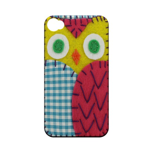 Yellow/ Maroon Owl Geek Nation Program Exclusive Jodie Rackley Series Hard Case for Apple iPhone 4/4S