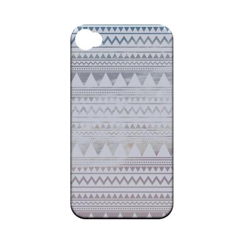 Beach Pattern Geeks Designer Line Zig Zag Series Matte Hard Case for Apple iPhone 4/4S