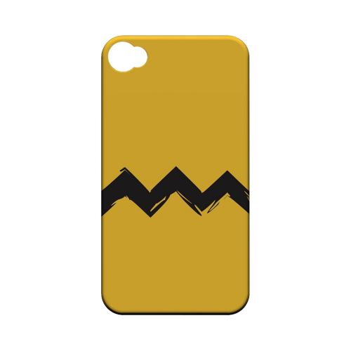 Yellow Good Grief! Geeks Designer Line Zig Zag Series Matte Hard Case for Apple iPhone 4/4S