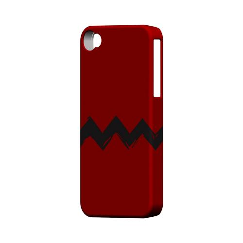 Red Good Grief! Geeks Designer Line Zig Zag Series Matte Hard Case for Apple iPhone 4/4S