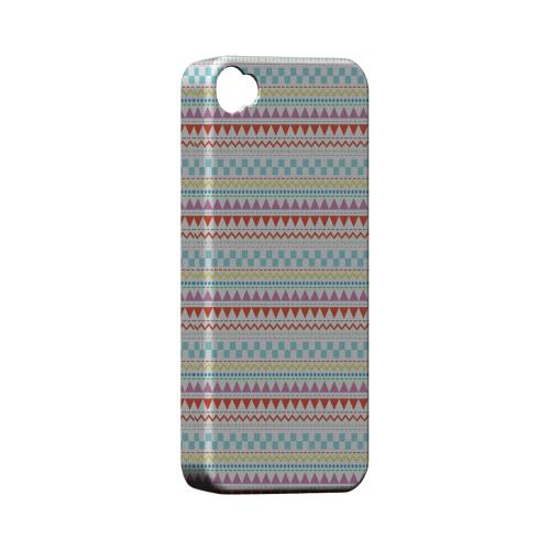 Multi-Shapes & Colors on White Geeks Designer Line Zig Zag Series Matte Hard Case for Apple iPhone 4/4S