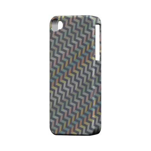 Grungy Pastel Steps Geeks Designer Line Zig Zag Series Matte Hard Case for Apple iPhone 4/4S