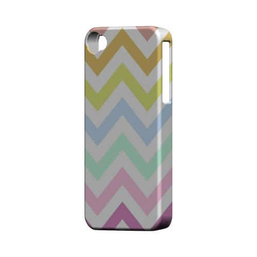 Pastel on White Geeks Designer Line Zig Zag Series Matte Hard Case for Apple iPhone 4/4S