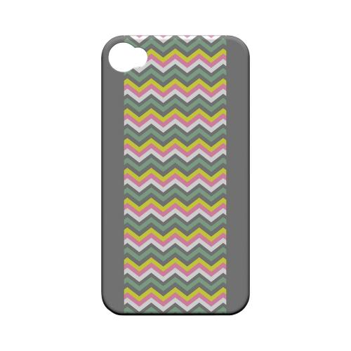 Pink/ Yellow/ Gray/ Green Geeks Designer Line Zig Zag Series Matte Hard Case for Apple iPhone 4/4S