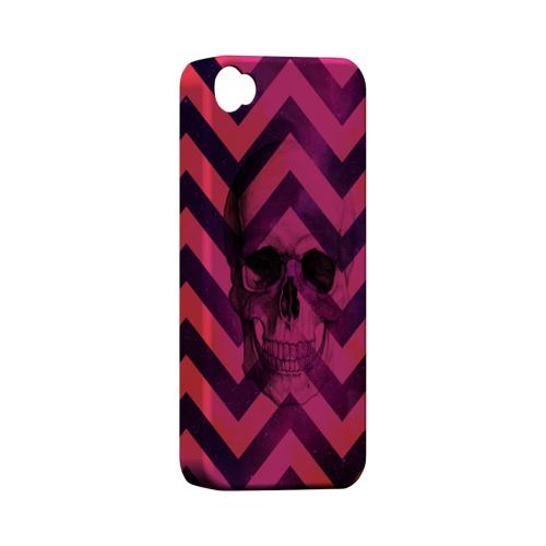 Pink Space Death Geeks Designer Line Zig Zag Series Matte Hard Case for Apple iPhone 4/4S
