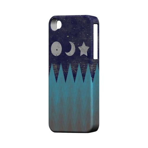 Sun Moon Star Geeks Designer Line Zig Zag Series Matte Hard Case for Apple iPhone 4/4S