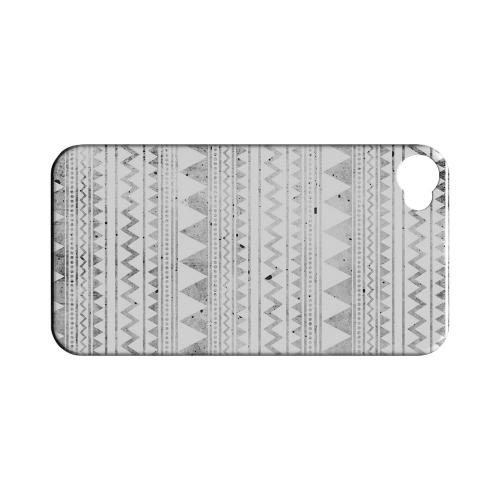 Grungy Triangles Geeks Designer Line Zig Zag Series Matte Hard Case for Apple iPhone 4/4S