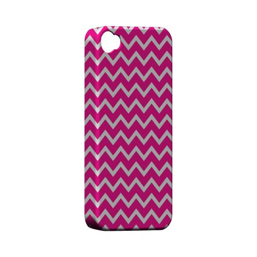 White on Hot Pink Geeks Designer Line Zig Zag Series Matte Hard Case for Apple iPhone 4/4S