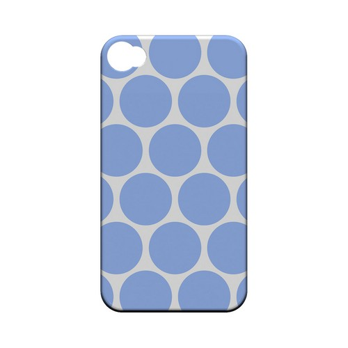 Big & Sky Blue Geeks Designer Line Polka Dot Series Matte Hard Case for Apple iPhone 4/4S