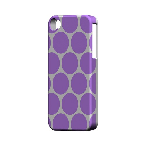 Big & Purple Geeks Designer Line Polka Dot Series Matte Hard Case for Apple iPhone 4/4S