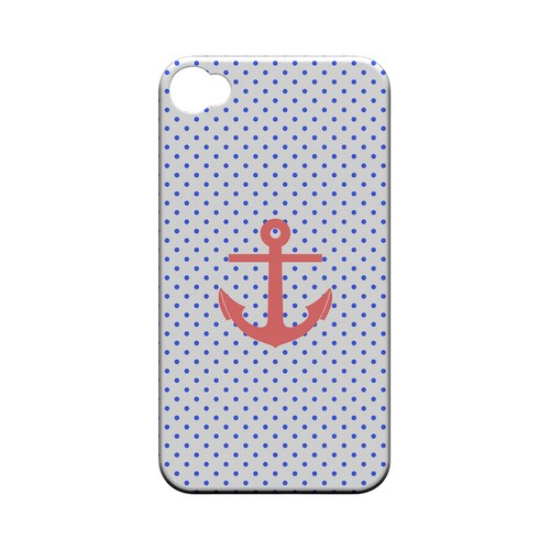 Anchor Geeks Designer Line Polka Dot Series Matte Hard Case for Apple iPhone 4/4S