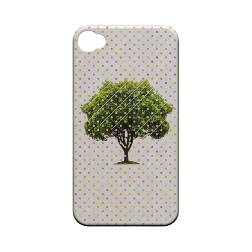 Tree Geeks Designer Line Polka Dot Series Matte Hard Case for Apple iPhone 4/4S