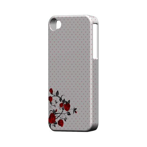 Rose Vine Geeks Designer Line Polka Dot Series Matte Hard Case for Apple iPhone 4/4S
