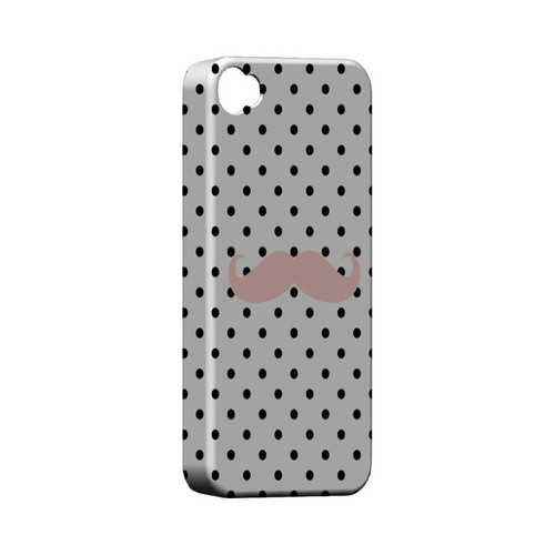 Pink Stache Geeks Designer Line Polka Dot Series Matte Hard Case for Apple iPhone 4/4S